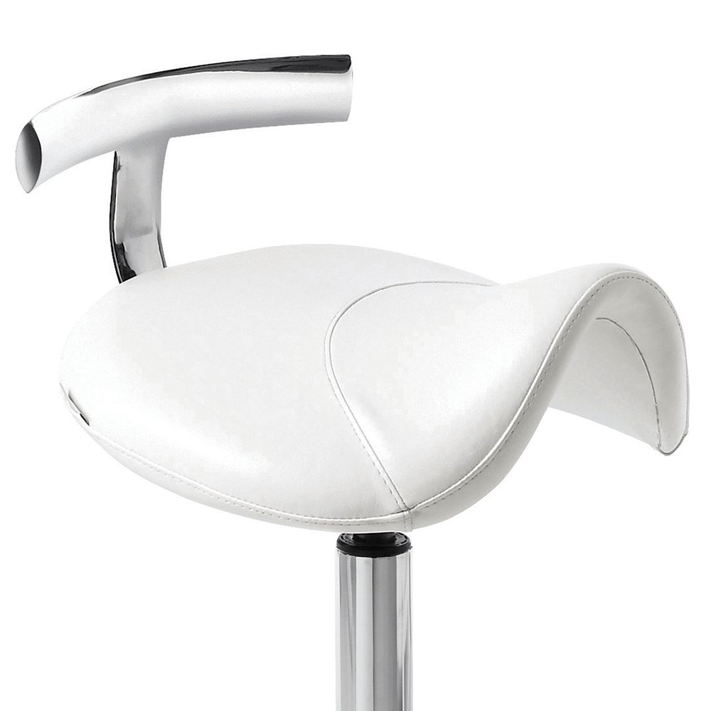 Saddle Stool Ii White With Aluminium Base Comfortel
