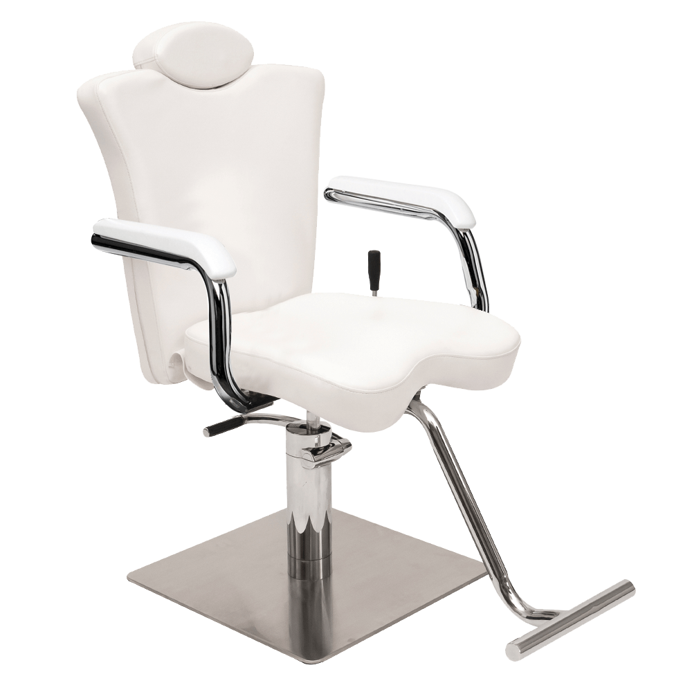 4 White Brow Lashes Reclining Chair