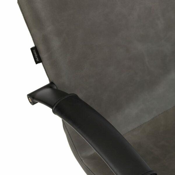 4467 Matilda Textured Charcoal Salon Chair 6