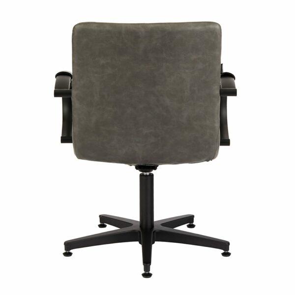 4467 Matilda Textured Charcoal Salon Chair Back