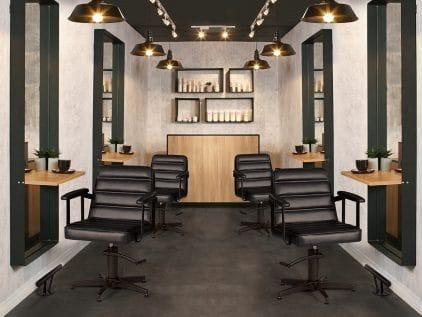 Salon Interior Design Inspo | Industrial Urban Salon Furniture ...