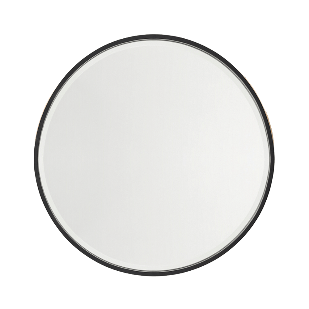 Nero Round Salon Mirror Comfortel