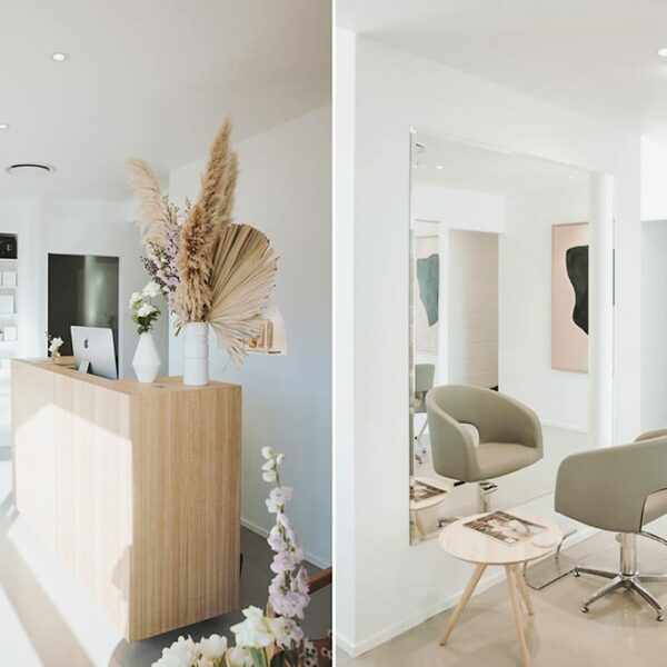 Brady Hair Salon.  Soft & Understated Minimalism Salon Design