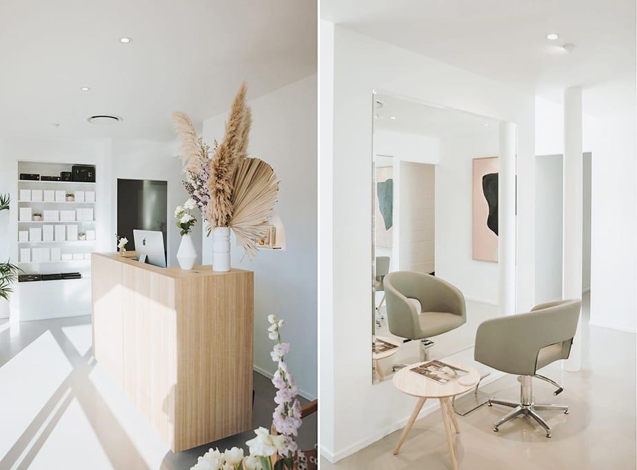 Brady Hair Salon. Soft & Understated Minimalism Salon Design ...