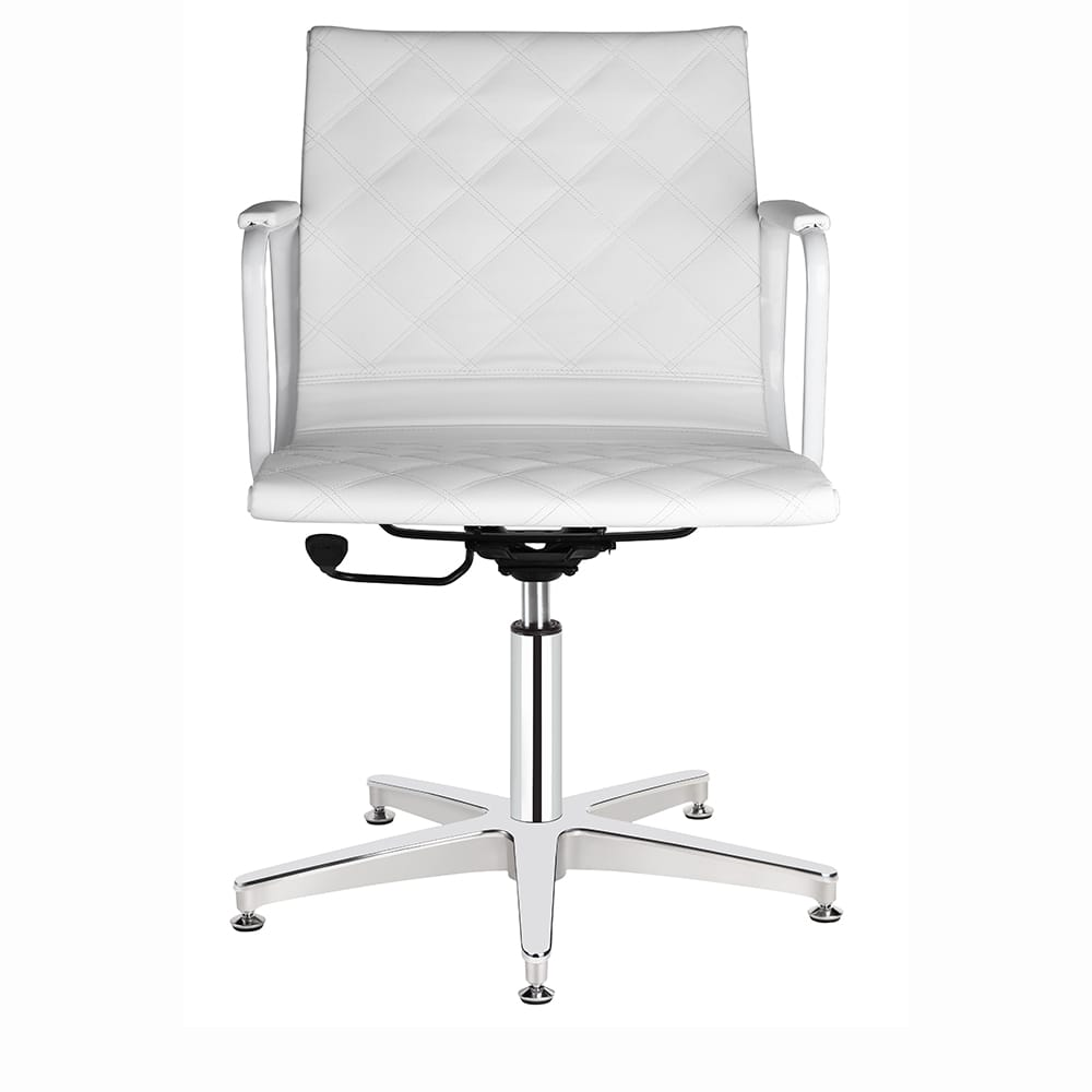 4380 Joey White Salon Chair Front