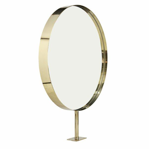 8750 Halo Round Brass Mirror 2