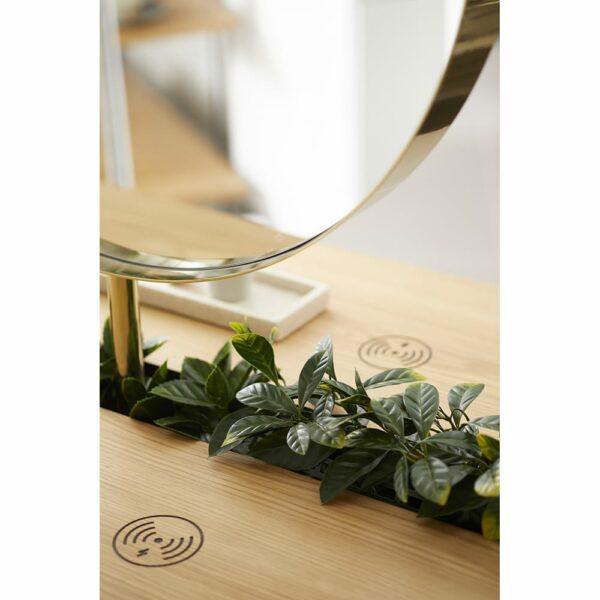 8750 Halo Round Brass Mirror 4