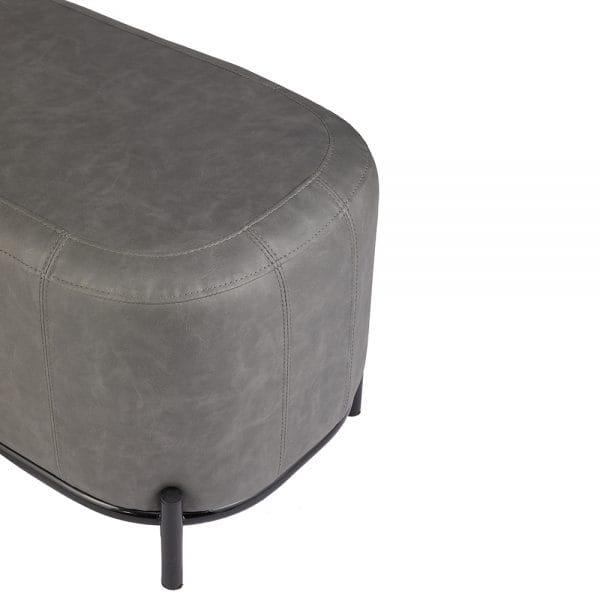 10400 Sansa Waiting Sofa Textured Grey 4