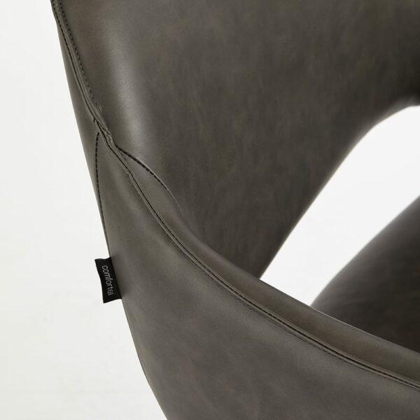 4115-TB Blake Textured Black Salon Chair 3