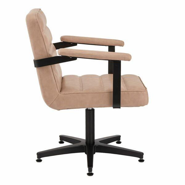 4152-B Franka Blush Salon Chair Side