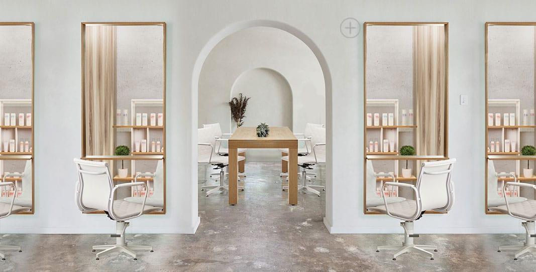 Light Minimalist Salon Interior Design Inspo | Salon ...
