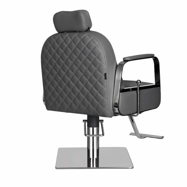 6218-D Claudia Make Up Chair Dark Grey Back Angled